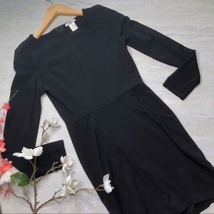 Bar III Black Longsleeve Zip Basic Dress